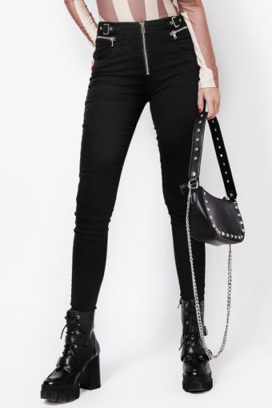 AMNESIA fekete nadrág