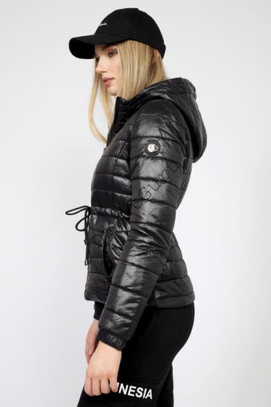 AMNESIA rövid derékban kötős kabát XL