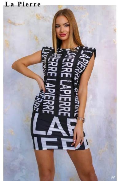 LA PIERRE Versio mintás ruha