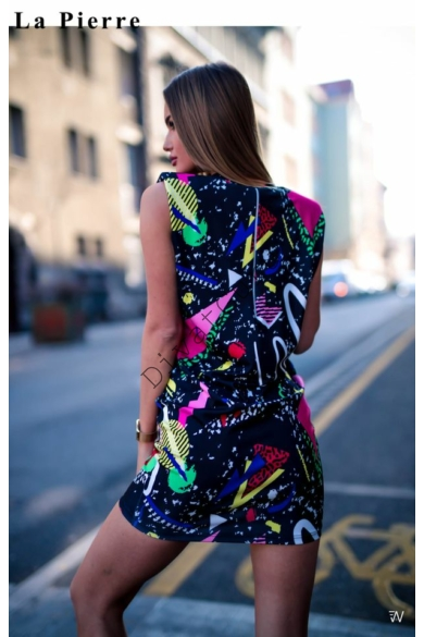 LA PIERRE Version mintás ruha